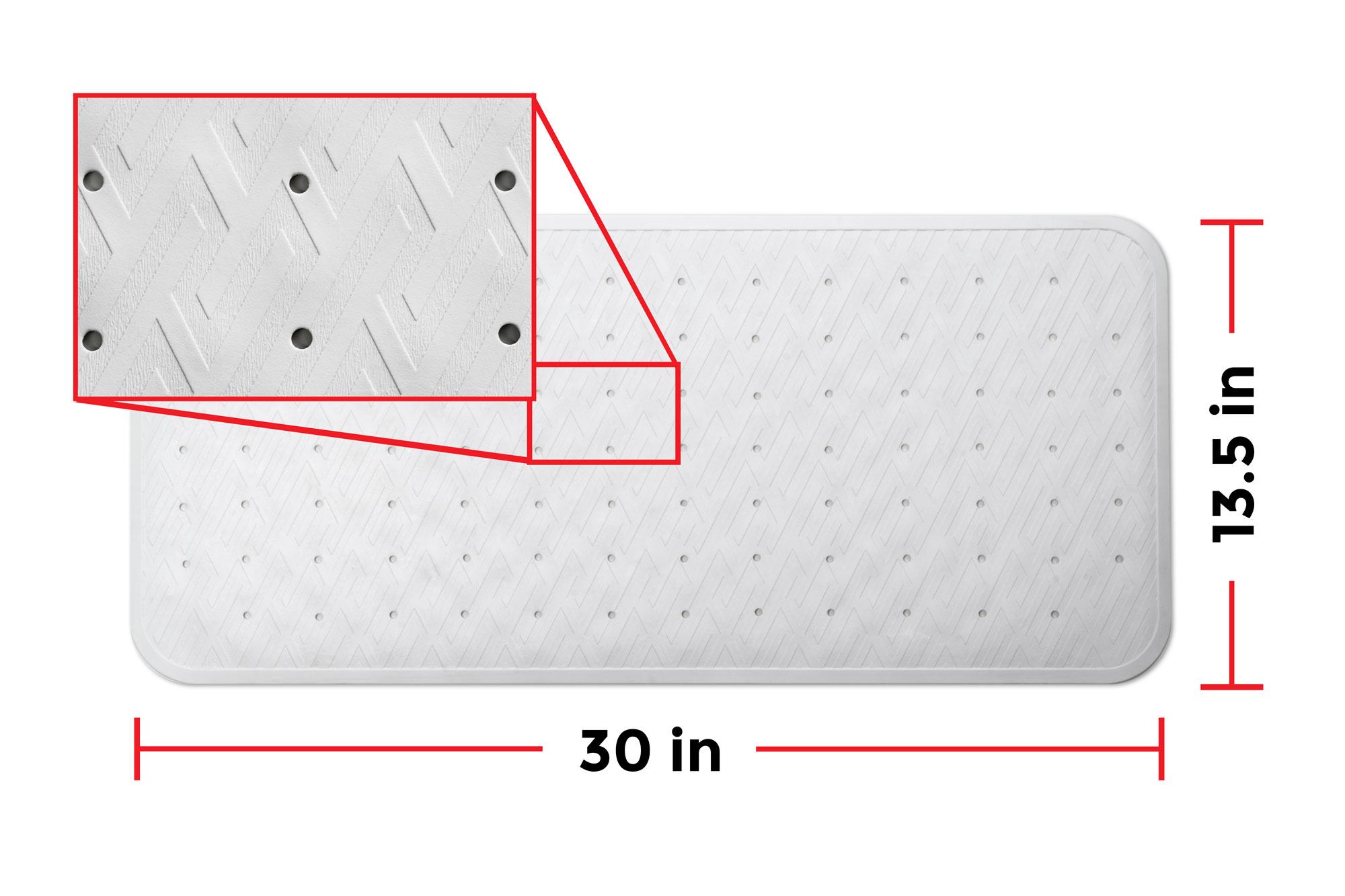 Anti Slip Bath Mat Antibacterial Amp Mildew Resistant Top