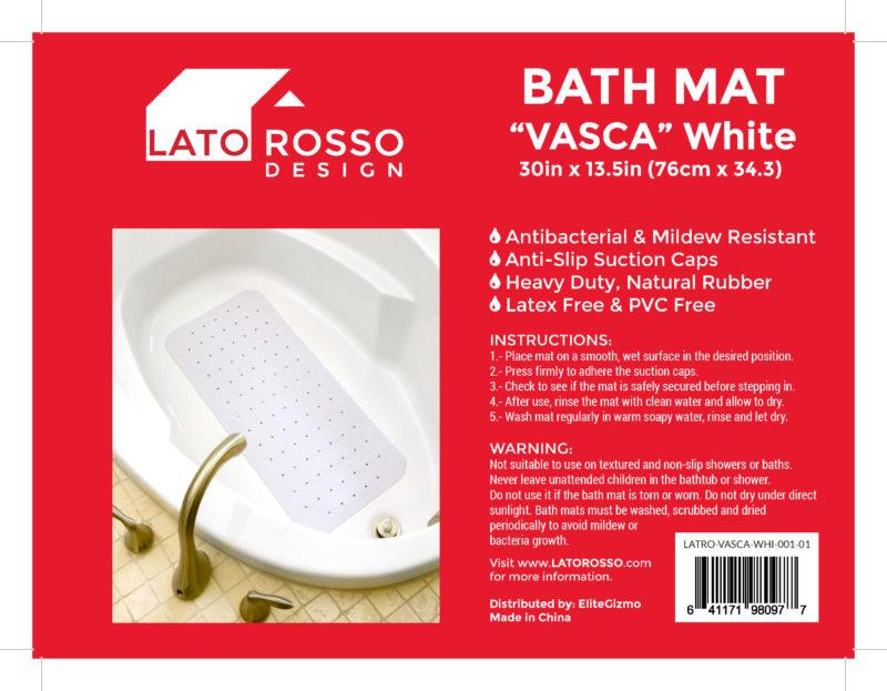 LATO ROSSO Bathtub Mat Vasca Label