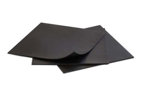 Rubber Sheet Black 6x6-in-1/16 Pack of 3