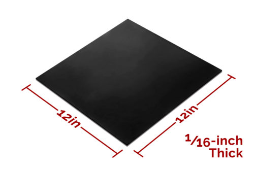 Everest Rubber Sheet Black 12x12 by 1/16