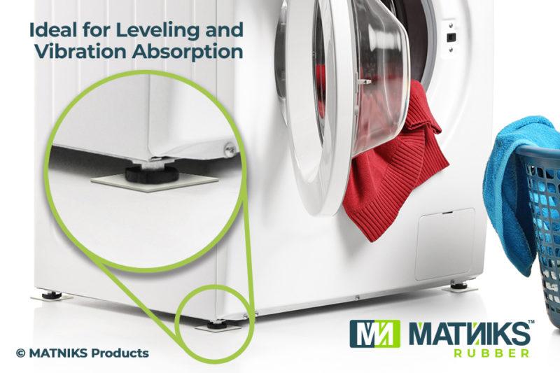 MatNiks NBF Rubber Sheet Vibration Absorption and Leveling White